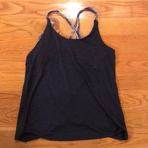 Workout open back tank top